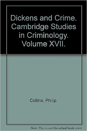 Book Dickens and Crime (Cambridge Studies in CriminologyVolume XVII)