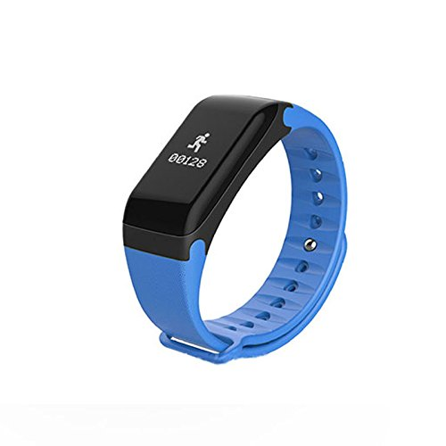 Auntwhale IP67 Waterproof Smart Watch Blueteeth, Android,IOS, Blood Pressure Measurement,Heart Rate Monitoring, Pedometer, Calories, Sleep Monitoring - Blue by Auntwhale