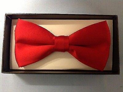 Unisex Mens Ladies Boxed Red Gift Tie Bow 11r7Zwq