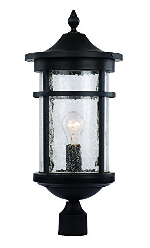 Trans Globe Lighting 40384 BK Outdoor Avalon 16.75'' Postmount Lantern, Black by Trans Globe Lighting