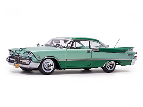 1959 Dodge Custom Royal Lancer Hard Top Jade Poly/Aquamarine Platinum Edition 1/18 Diecast Model Car by Sunstar 5483