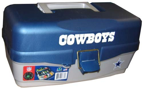 Fishlander tackle boxes nfl dallas cowboys tackle box for Dallas cowboys fishing shirt