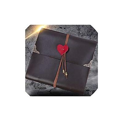Photo Album Hot Heart Shape Gift Wedding Photo Album High Grade Photo Album Creative Travel DIY Album Retro Lock Pu Leather On