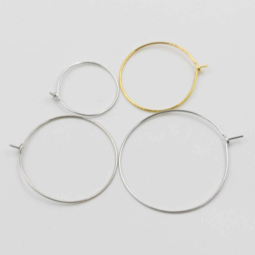 Healifty 100pcs Wine Charm Rings Wine Glass Rings Earring Open Beading Hoop for Jewelry Making DIY Art Craft Wedding Birthday Party Supplies