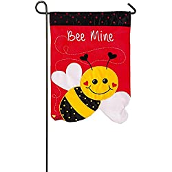 Evergreen Bee Mine Applique Garden Flag, 12.5 x 18 inches