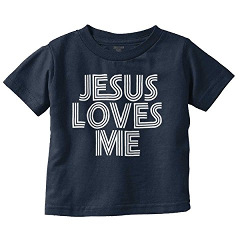Brisco Brands Jesus Love Me New Parent Christian T Shirt | Cute Baby Gift Toddler Infant T Jesus Toddler Shirt