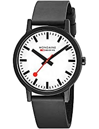 Men's 'SBB' Swiss Quartz Stainless Steel and Leather Casual Watch, Color Black (Model: MS1.41110.RB)