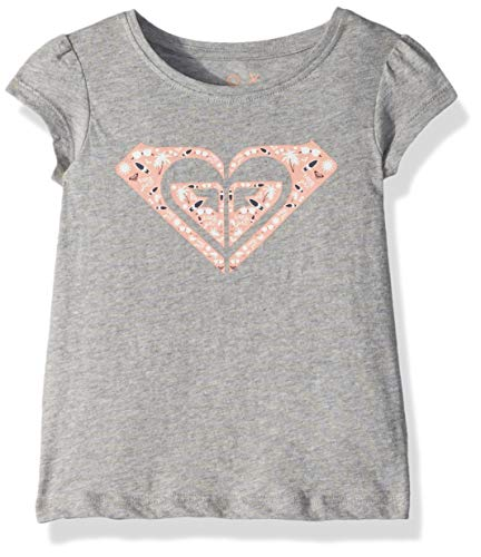 Roxy Girls' Toddler Moid Short Sleeve T-Shirt, Heritage Heather, 2 ()