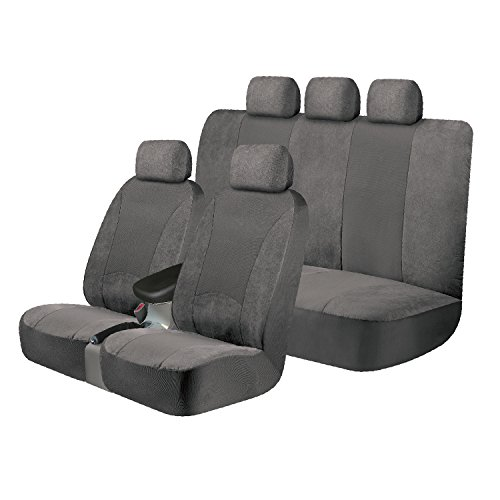 Kraco Universal Fit 3-Piece SGX Scotchgard Kit - (Gray) (contains 2 Low Back Seat Covers and 1 Standard Bench Seat (Standard Bench Seat)