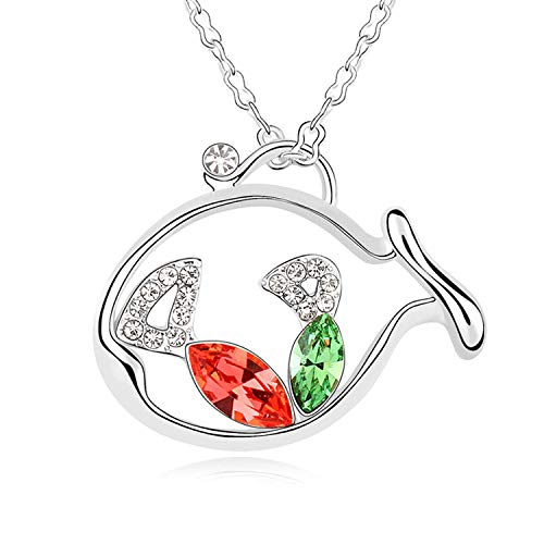 MYYQ Use Elemental Crystal Necklace Aromatic Tour Creative Cartoon Whale Pendant Girl