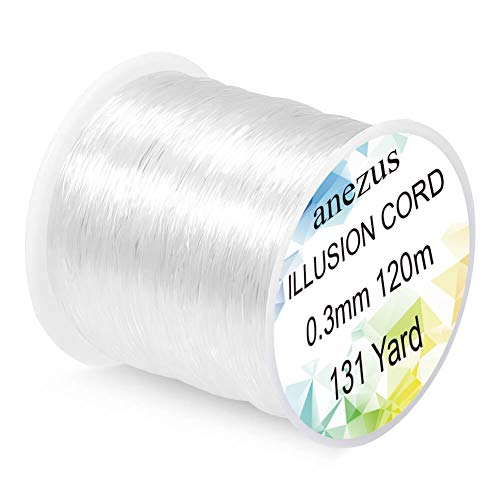 Clear Fishing Line (Anezus Fishing Line Nylon String Cord Clear Fluorocarbon Strong Monofilament Fishing Wire)