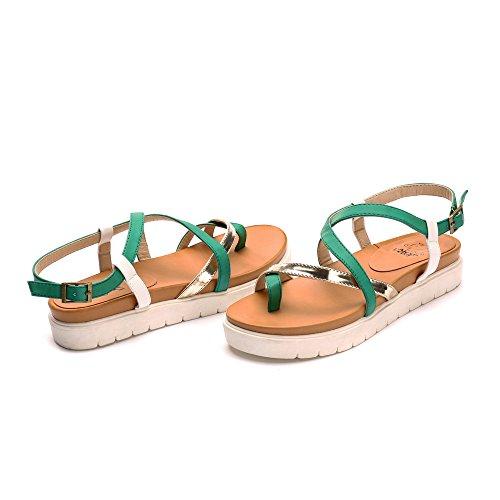 Verde con Plataforma para Leroy Mujer Gladiator Alexis Sandalias qwF0zPHR