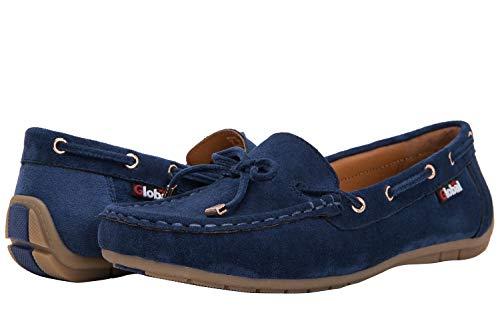GLOBALWIN Women's Blue Loafer Shoes 9 M ()