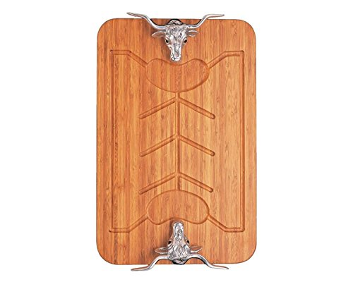 Arthur Court Longhorn 20-Inch Bamboo Carving Board by Arthur Court Designs