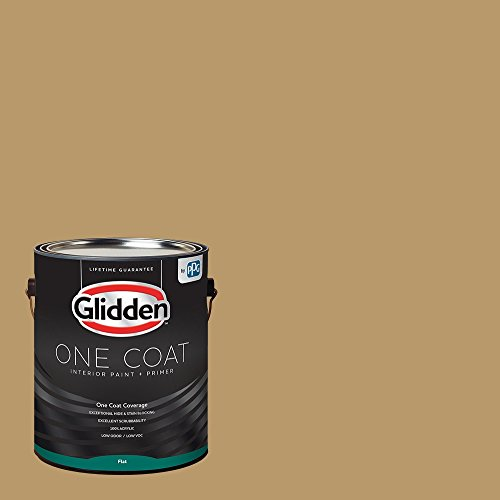 Glidden Interior Paint + Primer: Beige/Golden Granola, One Coat, Flat, - Flat Interior 01 Paint