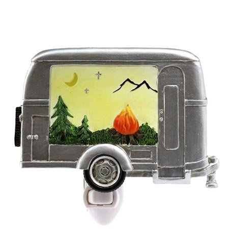 Silver Travel Trailer Night Light by Wilcor