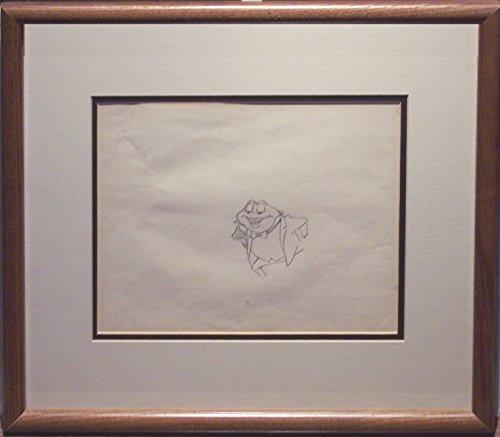 The Adventures of Ichabod and Mr. Toad Original Animation Cel Drawing Framed Walt Disney