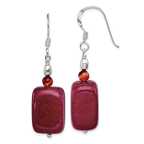 925 Sterling Silver Carnelian Red Jade Drop Dangle Chandelier Earrings Fine Jewelry Gifts For Women For Her