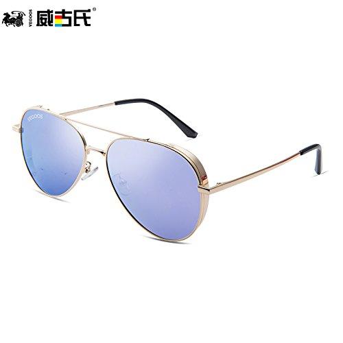 de marco hombres tendencias de de Purple de KOMNY gafas conducción sol sol la de de gafas masculina gafas gafas púrpura sol Gold Frame sol personalidad nuevas dorado polarizadas B6yqpwad6
