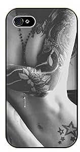 iPhone 5C Tattooed arm girl - black plastic case / Sexy Girl Black And White, Hot, tattoo