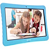 "10 Kids Tablet,10.1"" Inch 1080p Full HD Display Android 7.0,2GB+32 GB,Dual Camera Front 2MP+ Rear 5MP,Bluetooth and WiFi Blue Kid-Proof Case(Blue)"