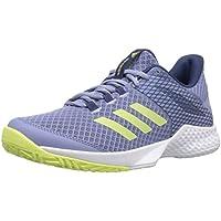 adidas Women's Adizero Club w Tennis Shoe, chalk Coral/White/Blue Tint, 6.5 M US