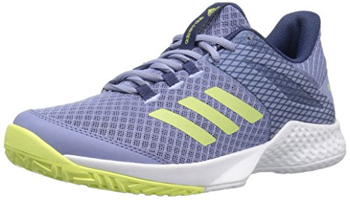 adidas Women's Adizero Club w Tennis Shoe, chalk Blue/Semi Frozen Yellow/Noble Indigo, 8.5 M US (Tennis Shoe Women)