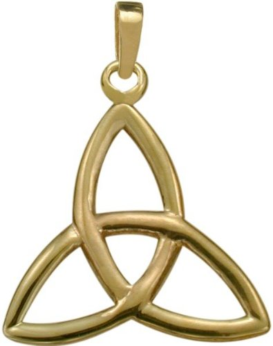 10 Trinity Pendant - 10 Karat Yellow Gold Trinity Knot Celtic Pendant with 20