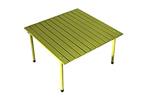 Table In A Bag W2716G Low Wood Portable Table With Carrying Bag, Green