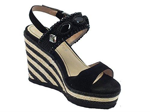 CafèNoir Mhg552 Nero - Sandalias de vestir de Piel para mujer negro