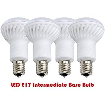 4pcs Of Pack Ashia Light Dimmable E17 Intermediate Base Led R14 Bulb Soft White 3000k 40 Watt