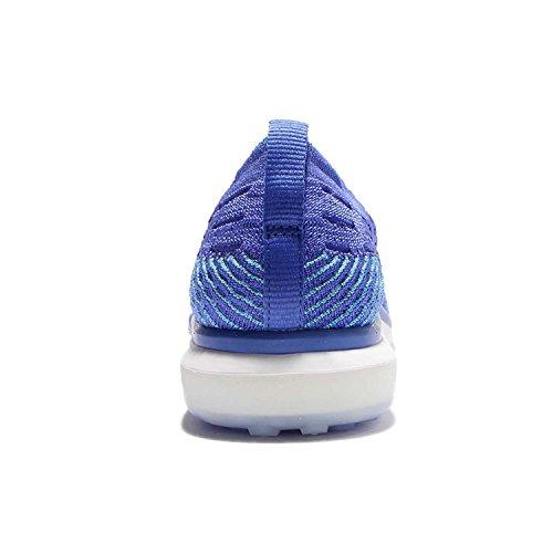 Nike Womens Air Zoom Scarpe Da Corsa Flyknit Senza Paura-blu Medio / Bianco-8.5
