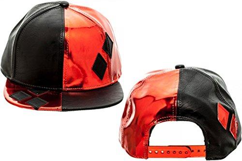 DC Comics Harley Quinn PU Leather Suit Up Snapback Hat (Joker Harley Quinn Costumes)