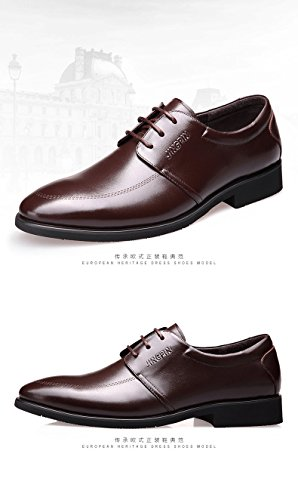 kakaka Herren Schuhe Business Schuhe Leichtes Leder Rindsleder, Braun - braun - Größe: 42.5