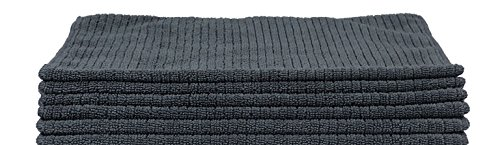 Dirt Magnet (6 PK) Professional Microfiber Cleaning Towel (Graphite Gray) by Dirt Magnet