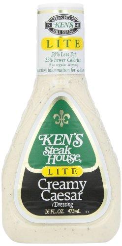 (Ken's Foods Lite Creamy Caesar Salad Dressing, 16 oz)