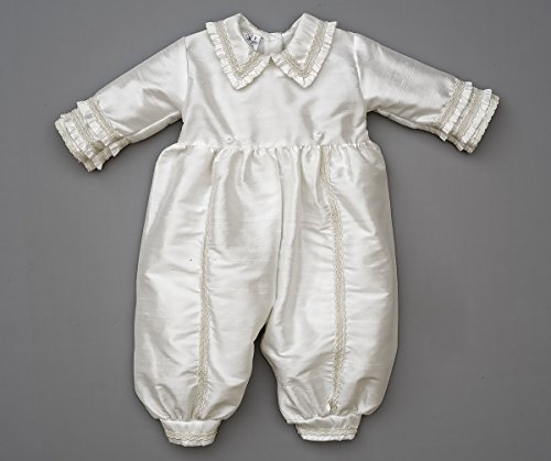 Heirloom Baby Boy's Christening Baptism Gown, Hand Made Ivory (Burbvus Ropones) by Burbvus (Image #9)