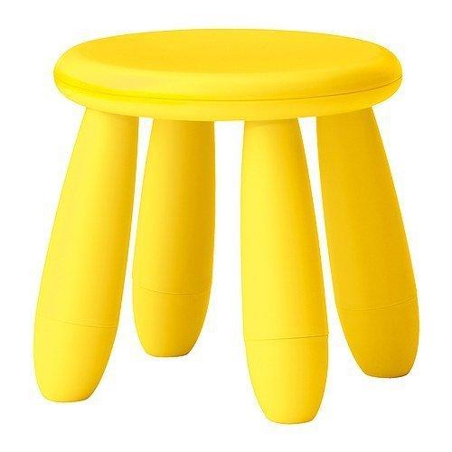 Ikea Mammut Childrens Light Yellow Stool by IKEA