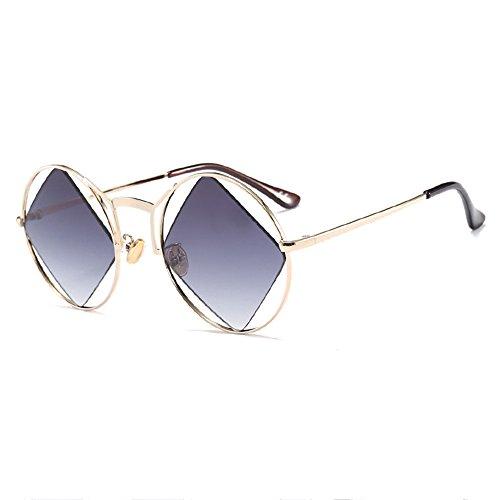 Marco De Gafas Sol De Ocio De Viaje Sol De Gray Gafas Blue De Redondo Compras Cuarteto Moda De De De qRrqaw6