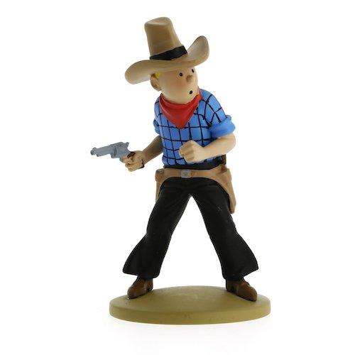 Figurine de collection Tintin en cow-boy 11,5cm Moulinsart 42191 (2015)