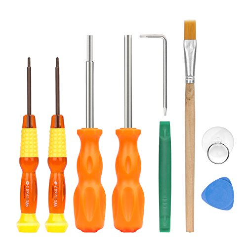 MoKo Repair Tool Kit for Nintendo, 9 in 1 Professional Screwdrivers L Wrench Cleaning Brush Precision Tool Set, for Nintendo Switch, Nintendo Wii / 2DS / 3 DS / DS Lite / GBA / Gamecube and More by MoKo (Image #8)