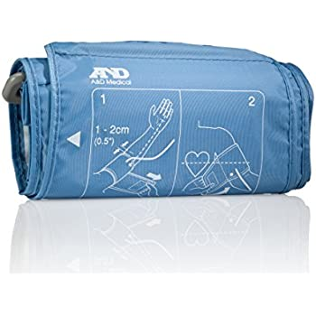 """A&D Medical Large Replacement Cuff for Upper Arm Blood Pressure Monitors, Fits 12.2"""" to 17.7"""" Arms (Cuff UA-291)"""