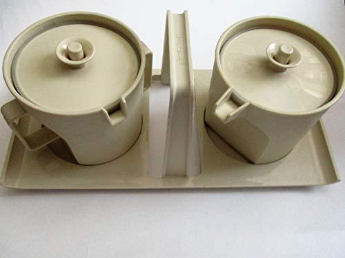 (Vintage Tupperware Gold/Tan Sugar and Creamer -- as shown)