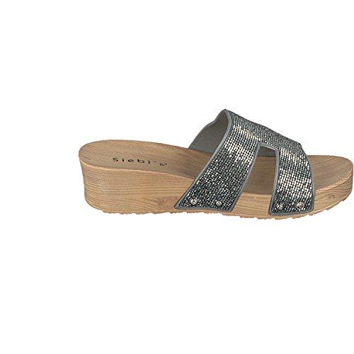 Siebi's COMO Chanclas Para La Piscina Playa Zapatillas Mujer - Plata, mujer, 41 EU