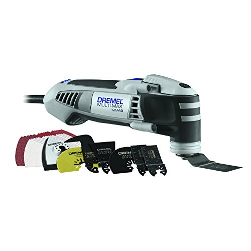 Dremel MM40-06 Multi-Max 3.8-Amp Oscillating Tool Kit with Quick-Lock Accessory Change Interface and 36 Accessories by Dremel