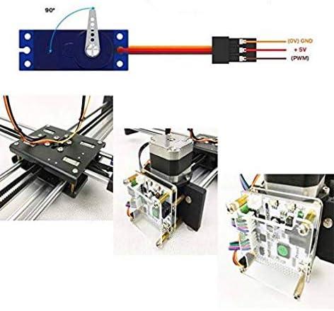 2 ejes DIY CNC XY Plotter Pen Desktop Drawing Robotics Alta precisión Car Painting Writing Robot Kit CNC Milling Router 2500MW: Amazon.es: Oficina y papelería