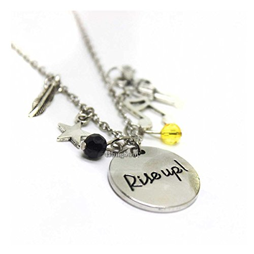 BlingSoul Broadway Musical Hamilton Necklace Jewelry Merchandise Rise up Charm Friendship Gifts - American Lin-Manuel Miranda Chain Boys Girls Costumes (Hamilton Gifts)