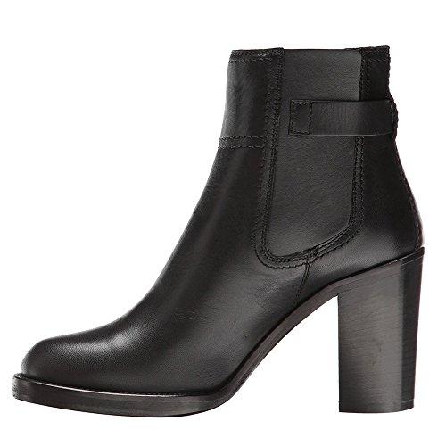 KJJDE Mujer Alta Tacón Botas Prima TLJ-071401 Hebilla De Cinturón De Moda Tacón Alto De Sexy Fiesta Baile Zapatos, Black,37