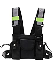 Radio Chest Harness Reflective Vest Hip Hop Chest Front Pack Pouch Holster Vest Rig