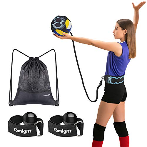 Aid Single - Tomight Volleyball Serving Training Equipment Aid Single Practice for Arm Swing Serve Trainer Beginners with Carry Bag Hand Resistance Bands